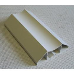 Lisse PVC 100 x 34 mm, 1 mètre linéaire, profil mouluré