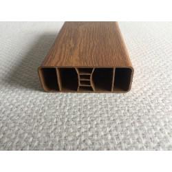 Lisse PVC chêne doré 80 x 28 mm