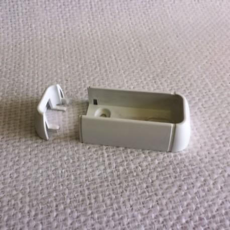 Fixe lisse PVC blanc pour lisse de 80x28