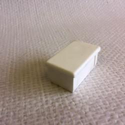 Bouchon blanc en PVC pour tube de 50x30