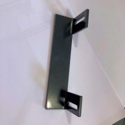 Butée portillon pour gache électrique encastrée en aluminium noir