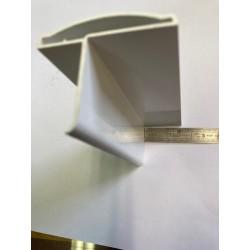 Battue ou pièce de recouvrement pour montant en Lisse PVC 130 x 35 mm de 0.5m à 2m,